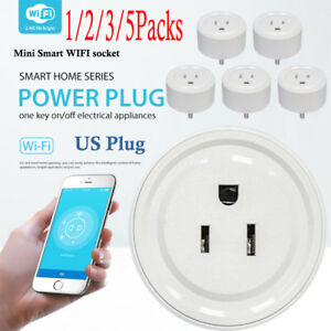 5 Packs Smart Power Socket Wifi Mini Switch APP Remote Timer Outlet US Plug WIS1