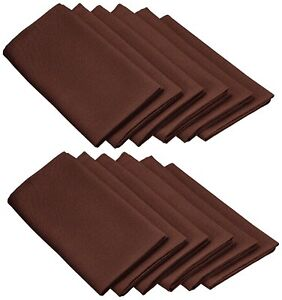 Set Napkins Polyester 20X20 12 Units Variety Colors By Broward Linens