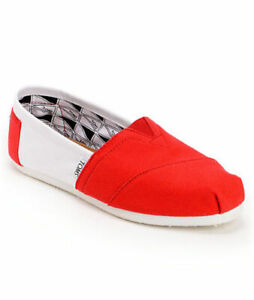 Men's Toms Campus Classics University of Nebraska Shoes Red / White Give Back!