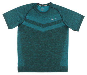 Nike Mens Dri FIT Knit Short Sleeve Shirt Teal XXL 642121 407