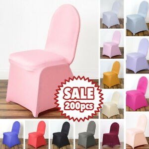 200 pcs SPANDEX STRETCHABLE CHAIR COVERS Wholesale Wedding Party Ceremony SALE
