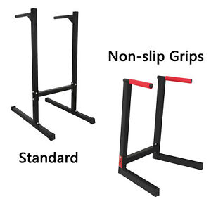 Bicep Tricep Dip Station Exercise Training Self Standing Dip Bar Stand 440lbs