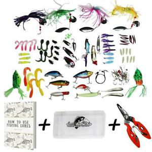 Fishing Lure Set For Bass CLEARANCE - Tackle Box Kit Combo Freshwater...