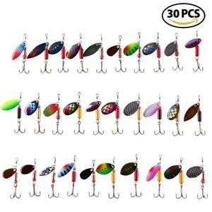 30PCS Fishing Lures Spinnerbait for Bass Trout Walleye Salmon by LotFancy -...