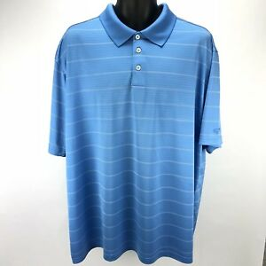 Champion C9 Mens XXL Golf Polo Shirt Duo Dry Fit Performance Lightweight Striped