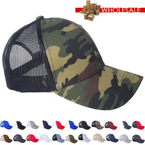 Mesh Trucker Hat Cotton Solid Washed Polo Style Baseball Cap Wholesale Men Sport