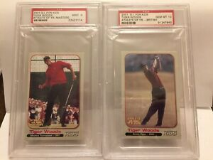 2001 Tiger Woods SI For Kids Grand Slam set Highest PSA Graded Only 6 Sets Exist