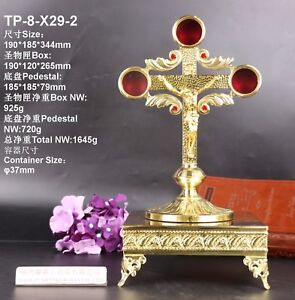 Brass Reliquary Ornate for relic Church with Tabor Pedestal TP 8 X29 2 $333.30