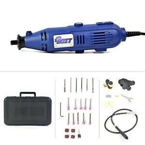 110 Pieces Accessories Variable Speed Rotary Tool Kit Grinder w/ Case Set Corded
