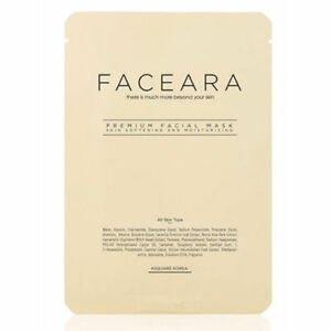 FACEARA Premium Facial Mask Sheet for Scrub & Super Moisturizer 25g 100EA Set