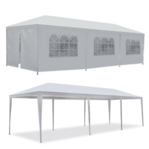 10#x27;x30#x27; White Outdoor Gazebo Canopy Wedding Party Tent 8 Removable Walls 8 $101.99