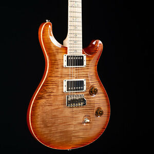 PRS Custom 24 10 Top Flame Maple Wood Library Autumn Sky 2533