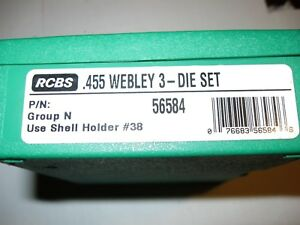 RCBS .455 Webley three die set with shell holder