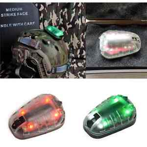 Outdoor Survival Hunting Tactical HEL-STAR 6 Helmet Safety Flash Light green red