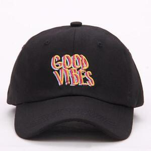 Good Vibes Dad Hat Embroidered Baseball Cap Curved Bill 100% Cotton Fashion Hats
