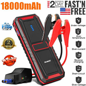 Suaoki U28 Peak Jump Starter Pack 2000A with USB Power Bank LED for 12V Car Boat