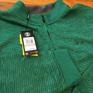 Under Armour Storm Water Resistant Pullover Long Sleeve Sweat Shirt Green Sz 3XL