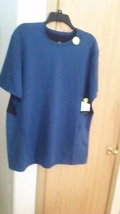 Champion Short Sleeve Mens XL Duo Dry Power Core Cool Fitted Teal Blk Shirt NWT