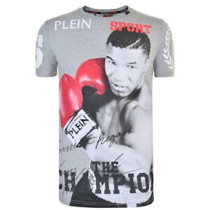Mens Philipp Plein Sport Grey Champion Boxing Logo T Shirt Top Size - RRP £245