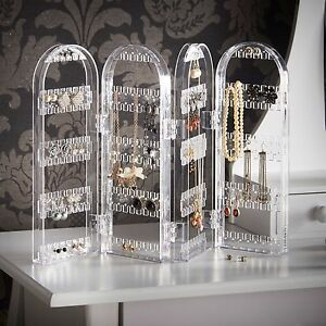 Beautify Acrylic Jewelry Holder Organizer Display Earring Necklace and Bracelet