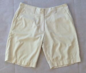 Nike Golf Shorts Ladies Fit-Dry Flat Front Tech Shorts Stretch White Size 10