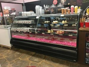 8 foot pastry display case