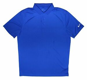 Nike Mens Blue Nike Dry Fit Short Sleeve Polo Neck Shirt Top Tee Size L