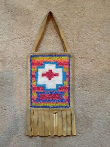 Willow Creek Area Beaded Bag Native American Indian Dance or Possible Bag Lined