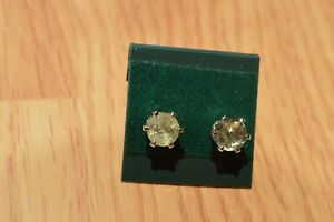 1.87ct Color Change Turkish Diaspore Solitaire Earrings Sterling Silver 6.2mm