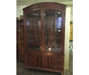 Liberty showcase or bookcase     entirely made of walnut wood