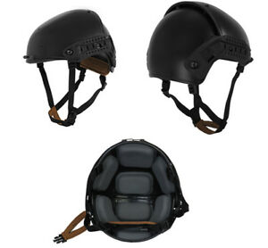 Lancer Tactical CP AF Style Airsoft Mil-Sim Helmet in Black CA-761LB Large XL