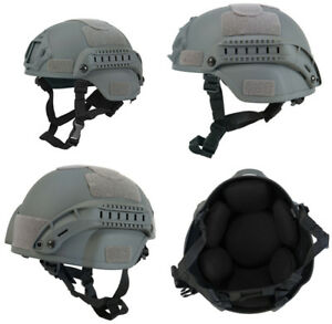 Lancer Tactical MICH 2000 SF Type NVG Airsoft Mil-Sim Helmet in Foliage Green