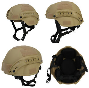 Lancer Tactical MICH 2000 SF Type NVG Airsoft Mil-Sim Helmet in Tan CA-380T