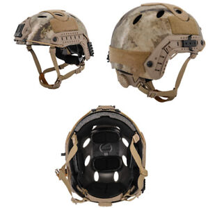 Lancer Tactical PJ Type Airsoft MilSim ATH Helmet AT Desert Camo LrgXL CA-725A