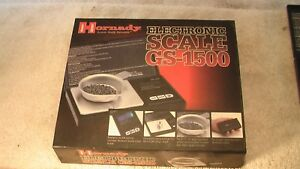 Hornady GS-1500 Grain Electronic Scale #050107 minty