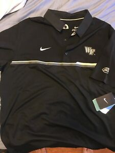 NIKE Fit-Dry Mens X-Large Wake Forest Demon Deacons Football Coaches Golf Polo