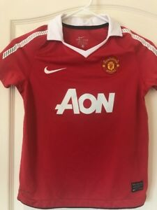 Authentic Manchester United Nike Dri-fit Nike Jersey Shirt Top Red XS Girls Boys