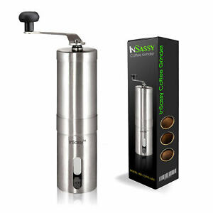 Manual Coffee Grinder Portable Stainless Steel Ceramic Conical Burr Mill Hand