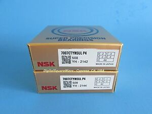 NSK 7007CTYNSULP4 ABEC 7 Precision Angular Contact Bearing. Matched Set of Two $120.00
