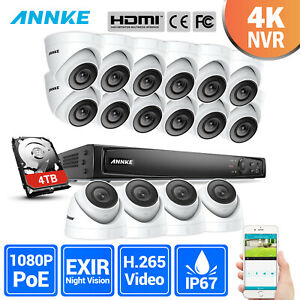 ANNKE 6MP HD 4CH8CH16CH NVR POE Kit 1080P 2MP Security Camera System 0- 4TB