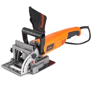 VonHaus 8.5 Amp Wood Biscuit Plate Joiner with 4quot; Tungsten Carbide Tipped Blade
