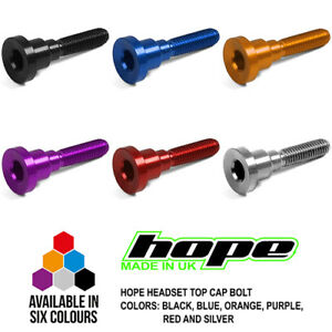 Hope Headset Top Cap Bolt HS114 - All Colors - Brand New