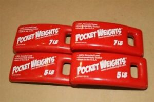 Lead Weight Packages 24lbs 2x5lb 2x7lb perfect for Scuba Diving BCs