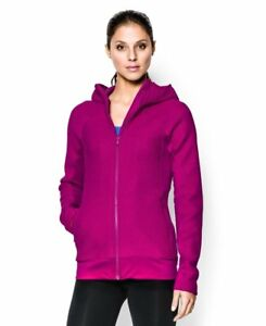 Under Armour Women's UA ColdGear Infrared Full Zip Hoodie Medium MAGENTA SHOCK