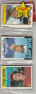 1986 Topps Rack Pack 48 Cards plus Ricky Henderson Glossy Coleman on back