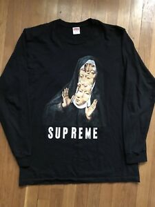 Supreme Nun LS Tee - Black Long Sleeve Large Authentic