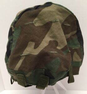 US Military Woodland Camo Ground Troops Parachutist PASGT Helmet Cover XS