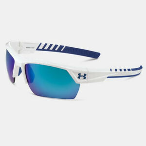 UNDER ARMOUR IGNITER 2.0 SUNGLASSES SHINY WHITE FRAME  BLUE MIRROR LENS 18264