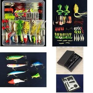 Fishing Tackle Baits Vivid Lure Kit Set With Box For Freshwater Trout Bass