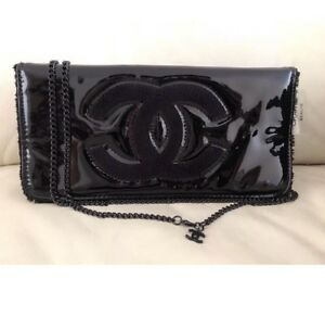 New Chanel Crossbody Black Patent Chain Bag Gift WBeauty VIP Purchase